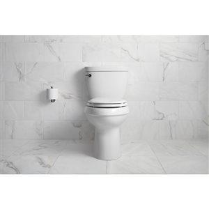 KOHLER Cimarron White 2-Piece WaterSense Comfort Height Elongated Toilet (1.28 GPF)