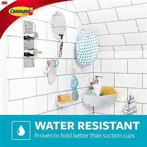 3M Medium Bath Hooks with Water-Resistant Strips (2 Hooks)