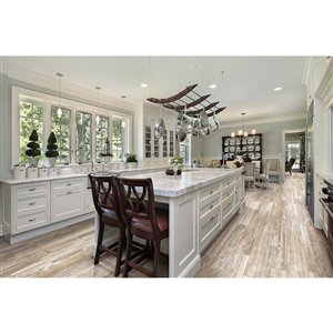 Style Selections 8-In x 48-In Boardwalk Myrtle Beach Glazed Porcelain Floor Tile