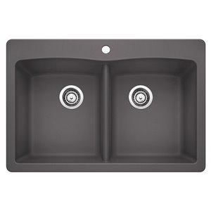 BLANCO Diamond Drop-In/Undermount Silgranit Kitchen Sink