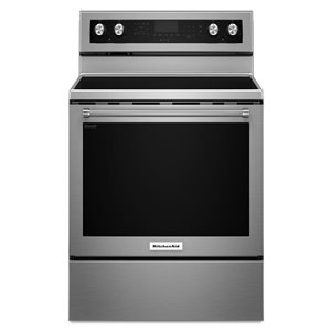 KitchenAid 30-in 6.4-cu ft Electric Range with Self-Cleaning Convection Oven (Stainless Steel)