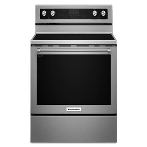KitchenAid 30-in 6.4 cu ft Electric Range with Self-cleaning Convection Oven (Stainless Steel)