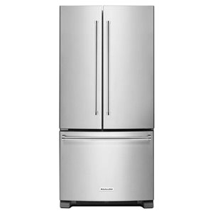 KitchenAid 22.1-cu ft 3-Door Standard-Depth French Door Refrigerators Single Ice Maker (Stainless Steel) ENERGY STAR