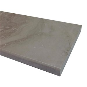 American Olean 76-in x 6-in Chestnut Gray Marble Threshold