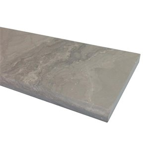 American Olean 36-in x 4-in Chestnut Gray Marble Threshold