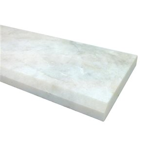 American Olean 36-in x 4-in Snowflake White Marble Threshold