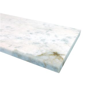 American Olean 76-in x 6-in Snowflake White Marble Threshold