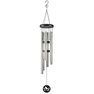 39-in Black and Silver Metal Modern Wind Chime