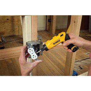 DEWALT 8-Volt 1/4-in Cordless Screwdriver (1-Battery Included and Charger Included)