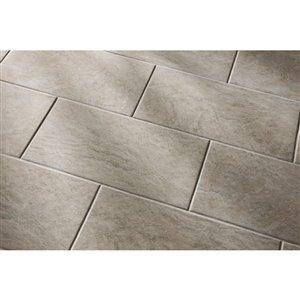 GBI Tile & Stone Inc. Floriana Heather Glazed Porcelain Indoor/Outdoor Floor Tile (Common: 12-in x 24-in; Actual: 11.69-in x 23.38-in)