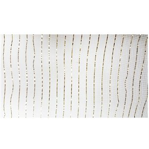 Holiday Living 21-in W x 3-in H Ivory Ribbon