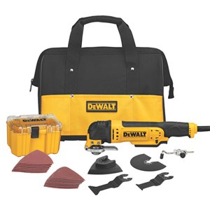 DEWALT 34-Piece 3 Amp Corded Oscillating Multi-Tool Kit