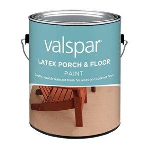 Valspar Gallon Exterior Satin Porch and Floor White Paint