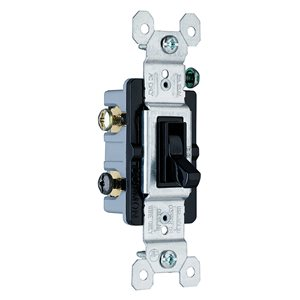 Pass & Seymour/Legrand Pass & Seymour/Legrand 663 15-Amp 120-volt Single Pole Black TradeMaster Grounding Toggle Light Switch
