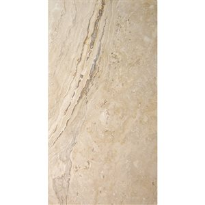 Avenzo 24-in x 12-in Beige Natural Travertine Wall and Floor Tile