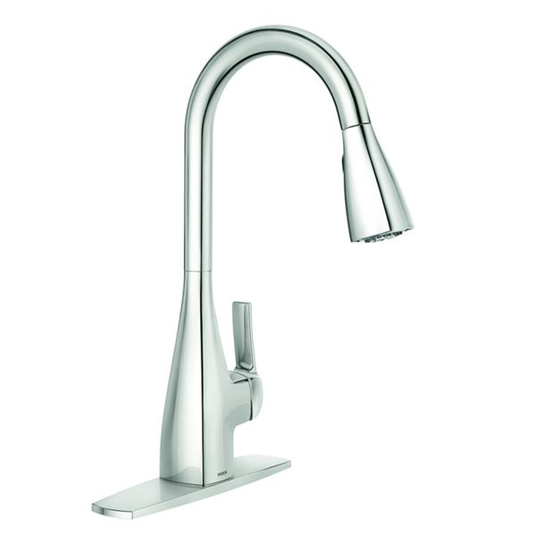 Moen Kiran Chrome One Handle Pull Down Kitchen Faucet Lowe S Canada