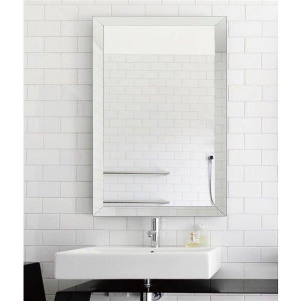 X 40 In Clear Rectangle Framed Mirror, 30 X 40 Framed Bathroom Mirror