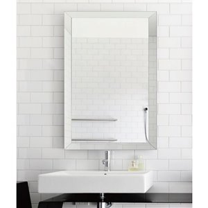 30-in x 40-in Clear Rectangle Framed Mirror