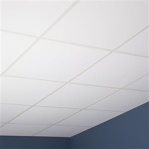 2 Ft X 2 Ft Smooth Pro White Lay In Ceiling Tile Lowe S