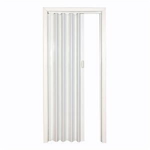 Spectrum 24-in to 48-in x 80-in White Vinyl Folding Closet Door