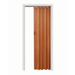 Spectrum 24-in to 36-in x 80-in Cherry Vinyl Folding Closet Door