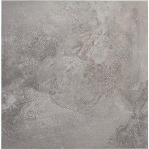 Avenzo 13-in x 13-in Avenzo Gray Ceramic Floor Tile