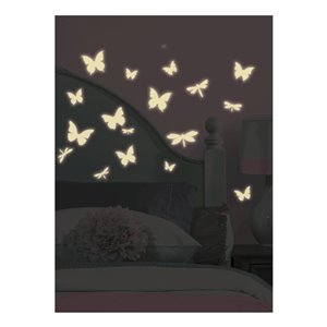 RoomMates Peel & Stick Kids Butterfly & Dragonfly Wall Stickers