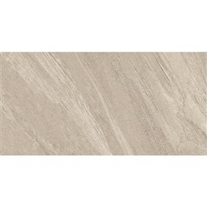 Style Selections 12-in x 24-in Dolomiti Noce Glazed Porcelain Floor Tile