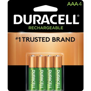 Duracell Rechargeable AAA Rechargeable Battery (4-Pack)