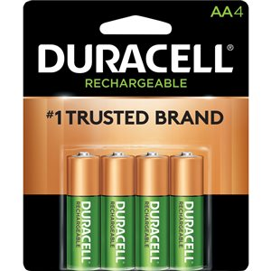 Duracell Rechargeable AA Rechargeable Battery (4-Pack)