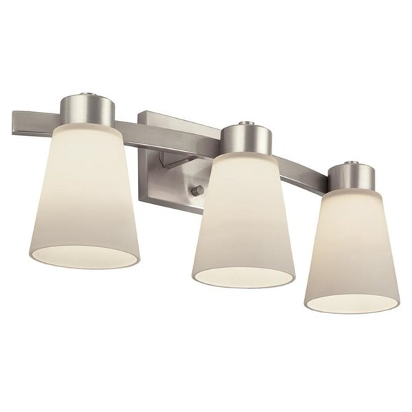 Portfolio 3 Light Brushed Nickel Bathroom Vanity Light Lowe S Canada