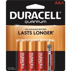 Duracell Quantum AA Alkaline Battery (4-Pack)