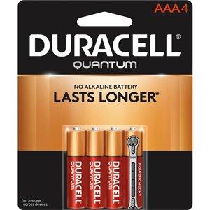 Duracell Quantum AAA Alkaline Battery (4-Pack)