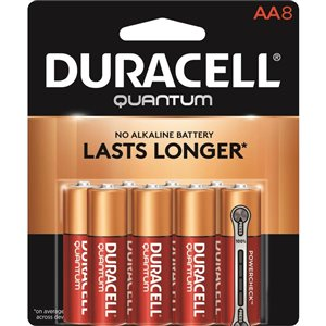 Duracell Quantum AA Alkaline Battery (8-Pack)