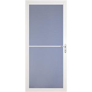 LARSON Baybreeze White Full-View Tempered Glass Retractable Screen Storm Door