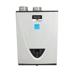 GSW Powered by TAKAGI 10-GPM Condensing 199000 BTU Natural Gas Tankless Water Heater (15 Year)