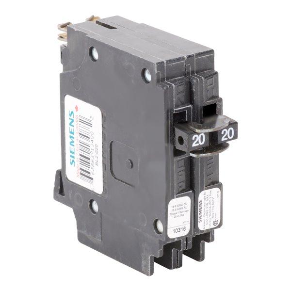 Siemens 20-amp 2 Pole 120/240-volt Blue-Line Breaker