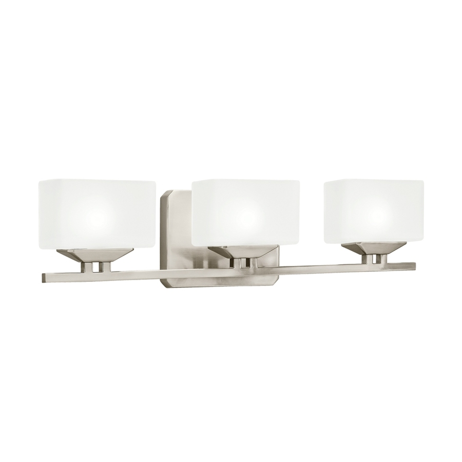 Kichler 3 Light Brushed Nickel Bathroom Vanity Light Lowe S Canada