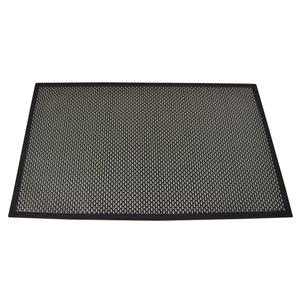 Design Decor 34-in x 20-in Textilene Floor Mat Black/Beige