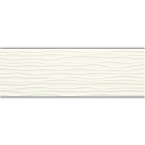 American Olean Starting Line 4-in x 12-in Gloss White Ceramic Wall Tile