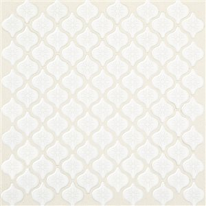 American Olean Arabesque 12-in x 12-in White Glazed Porcelain Wall Tile