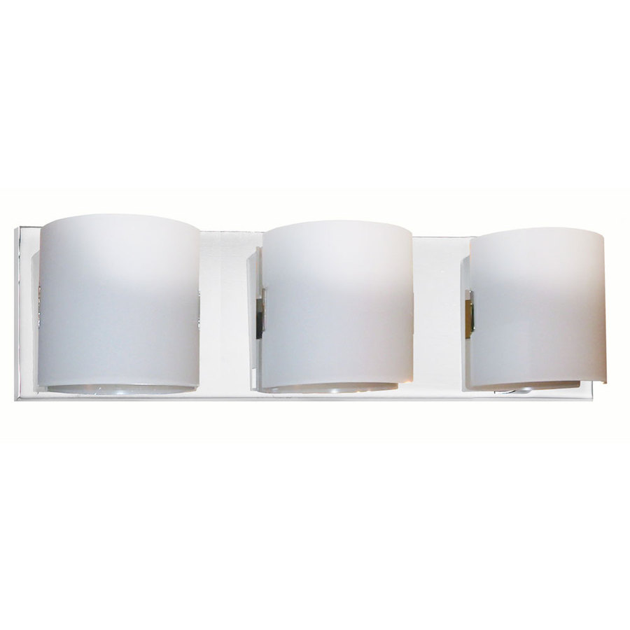 Dainolite 3 Light Polished Chrome Bathroom Vanity Light Lowe S Canada