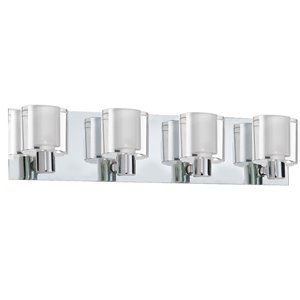 Dainolite 4 Light Polished Chrome Bathroom Vanity Light Lowe S Canada