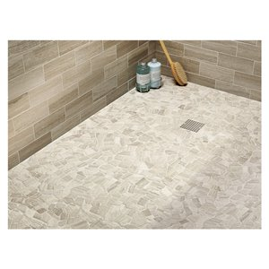 American Olean Delfino Stone Arctic Topaz Honed Natural Stone Mosaic Wall Tile (Common: 12-in x 12-in; Actual: 12.5-in x 12.5-in)