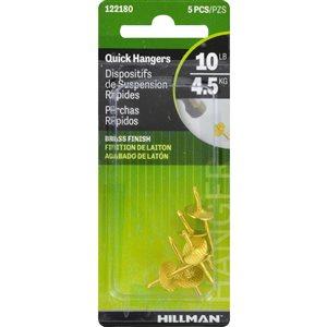 Hillman 5-Pack 10 Lb. Quick Picture Hangers