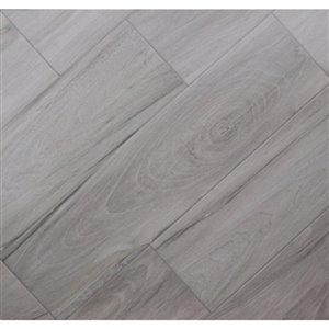 The Reserve 8-in x 32-in Voyage Gray Glazed Porcelain Floor Tile