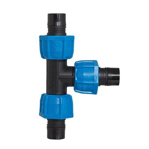 1-in Dia. Plastic Coil Compression Tee Fitting