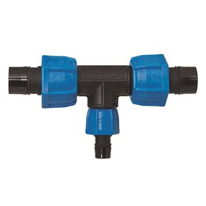 1-in x 1/2-in Dia. Plastic Coil Reducing Compression Tee Fitting