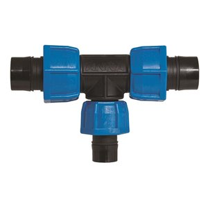 1-in x 1-1/4-inDia. Plastic Coil Reducing Compression Tee Fitting