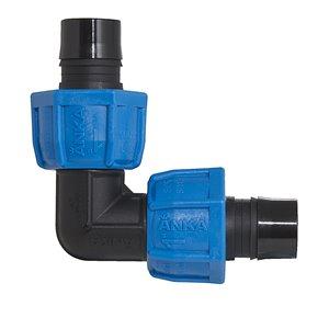 1-in Dia. 90-Degree Plastic Coil Compression Elbow Fitting